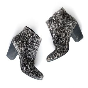 BP Nordstrom Real Fur Printed Calf Hair Bootie 10